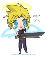 Cloud Angle Chibi by TheMadHattersMistres