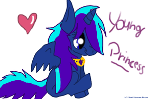 Blue thunder as an filly by NewMoon-Dragoness
