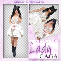 Lady Gaga PNG PACK by DesignCreationsOffi