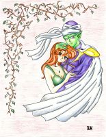 Makoto and Piccolo with Ivy by ChibiBee