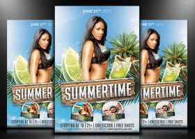 Summertime - Flyer/Poster Template by mrwooo