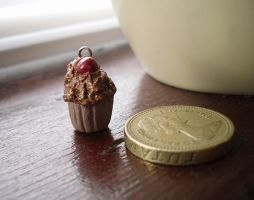 Chocolate Cherry Cupcake by clarearies13