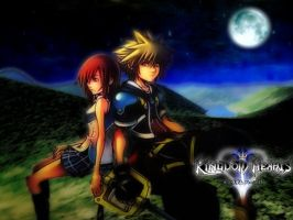 kairi and sora by renso2