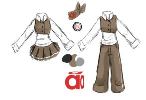 Student Uniforms by AnimeArtAcademy