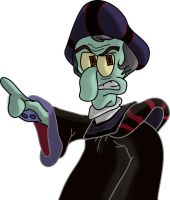 Squidward Frollo by SpongicX