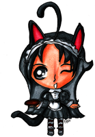Copic Chibi Maid by FrenchBananaHorn