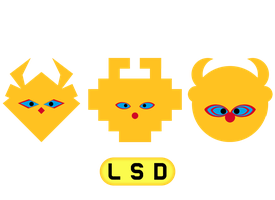 LSD: Dream Emulator Mascot Heads by GiantPurpleCat