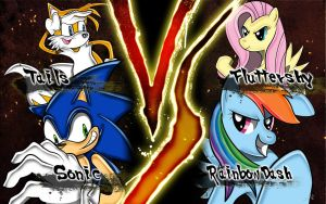 -Sonic X MLP- Team Sonic vs Team Rainbow Dash by Wildy71090