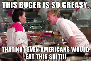 Gordon's knowledge on American food. by SharpySaber
