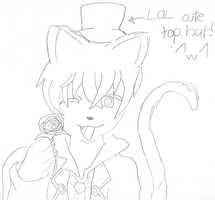 Happy Ciel as a Cat by DragoniteMessenger