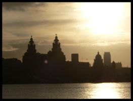 Sunrise over Liverpool by scarabanza