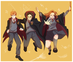 The Gryffindor trio lalala by MayaNara
