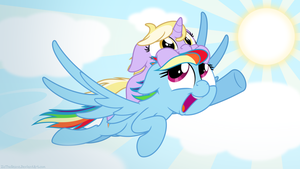 Commission: Rainbow Dash and Dinky by ZuTheSkunk