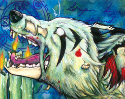 Undead Ritual - ACEO by Sessko