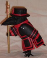 Raven Tower of London Guard - side by herdthinner