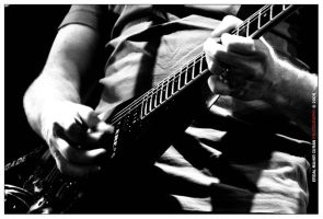 Dave Mustaine III bw by curan