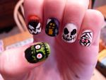 halloween nails by Day-Dreamer-29