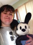 Me and my new Oswald plush by GothicTaco198