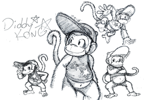 Diddy Kong by Monkeytaillo