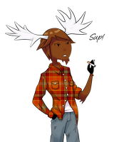 Maxwell the Moose by Ask-Ray-the-InkBoy