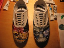 my Mass Effect shoes 1 by IfWereLost