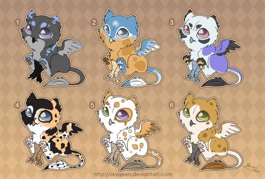 [Closed] Adoptables: Baby Gryphons 2 by Almairis