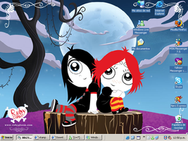 Ruby Gloom and Iris Desk by DJWill
