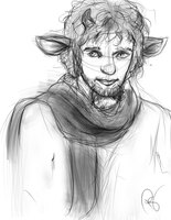 Sketch Mr. Tumnus by Pangol