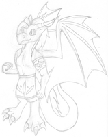 Dragon Character Sketch by t3hphazondragon