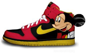 Modern Mickey Nike Dunks by becauseimjay