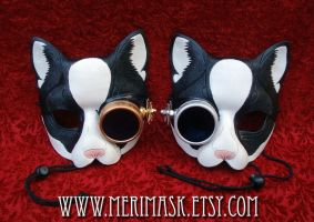 Peeping Tom Steampunk Cat Masks by merimask