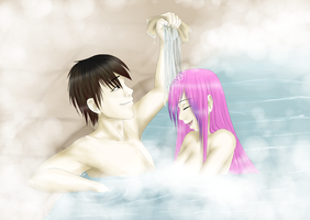 Hot Spring Couple by StendorfDesign