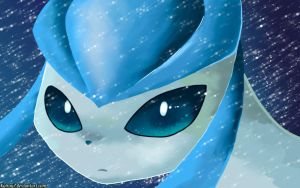 Glaceon Try Again by KairouZ