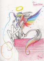 GIFT.::Angel Of The Rainbow::. by EvilPink95