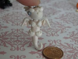 Baby Dragon Polymer Clay by sanxcharms