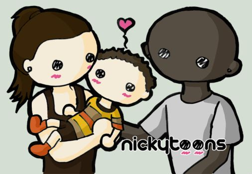 Idina Menzel and her Family by NickyToons