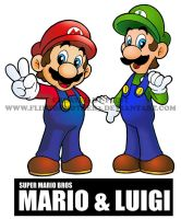 SUPER MARIO BROS MARIO AND LUIGI by FlintofMother3