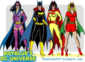 Gotham Girls Huntress, Batgirl, Batwoman, Bat-Girl by BoybluesDCU