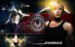 Starbuck wallpaper by FoxDie49
