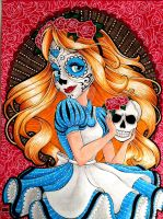 Sugar Skull Alice by SJK-drawings