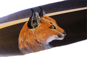 Caracal Feather by DarkGrungeWolf
