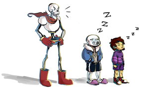 [Undertale] Sans is a bad influence by Nattsuuno