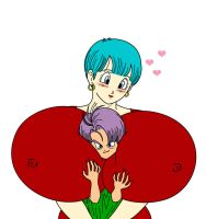 Bulma And Trunks by toshis0