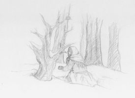 Sketch-a-day 17-10-13: Winter is coming by ThroughMyThoughts