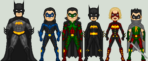 Batman_Family by MimicZeThird