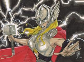 Lady Thor by Hodges-Art