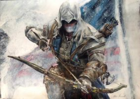 Assassins Creed 3 painting (Conner) by PeterHazzard