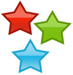 Three stars by WordDraw