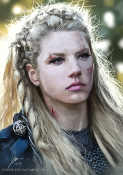 LAGERTHA - speed painting by jodeee
