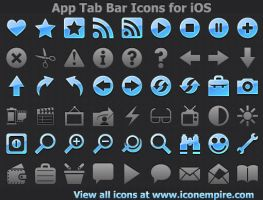 App Tab Bar Icons for iOS by Ikonod